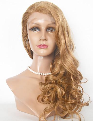 povoljno Perike s ljudskom kosom-Ljudska kosa Full Lace Lace Front Perika stil Brazilska kosa Tijelo Wave Perika 130% Gustoća kose s dječjom kosom Ombre Prirodna linija za kosu Afro-američka perika 100% rađeno rukom Žene Kratko