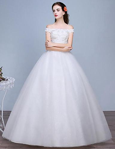 Princesse Longueur Sol Dentelle Tulle Robe de mariée avec Dentelle par