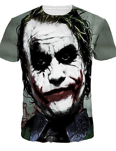 Tee-shirt Homme,Portrait Imprimé Punk & Gothique Col Arrondi Mince