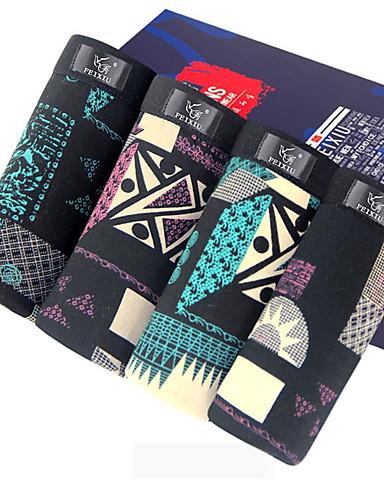 SHINO® Puuvilla / Bambuhiilikuitu Retroshortsit 4 / laatikko-F066