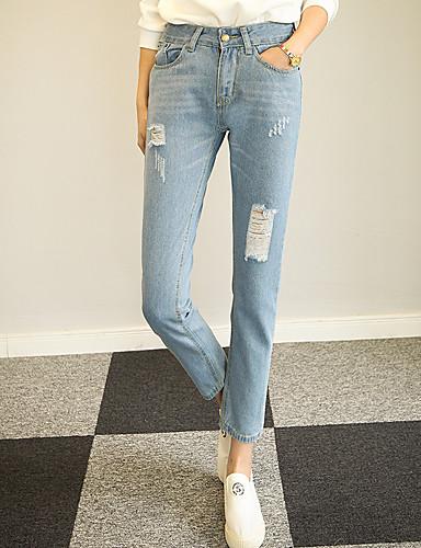 Kvinders Street Jeans Bukser Uelastisk Bomuld