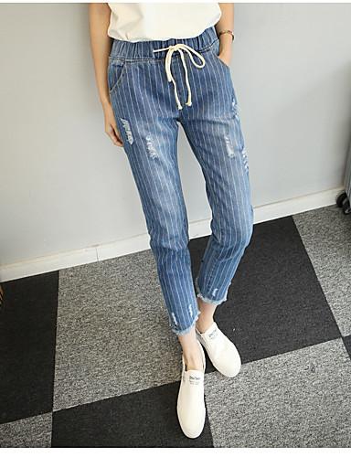 Kvinders Vintage Jeans / Chinos / Tynd Bukser Uelastisk Polyester