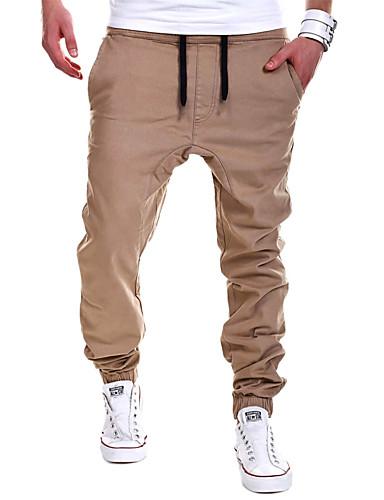 Men's Active Plus Size Cotton Sweatpants Pants - Solid Colored
