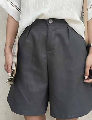 Kvinders Simpel Straight Bukser Mikroelastisk Bomuld