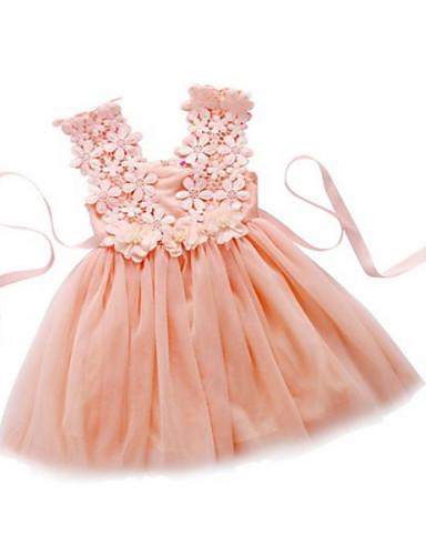 Vestido de menina de flor de joelho com uma linha de joias - tiras de tul sem mangas com flor