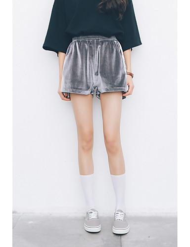 Kvinders Simpel Shorts Bukser Mikroelastisk Nylon