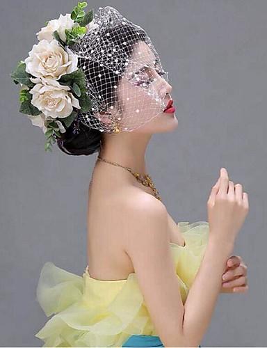 abordables Demoiselles d'Honneur-Filet Voiles Birdcage avec 1 Mariage / Occasion spéciale Casque