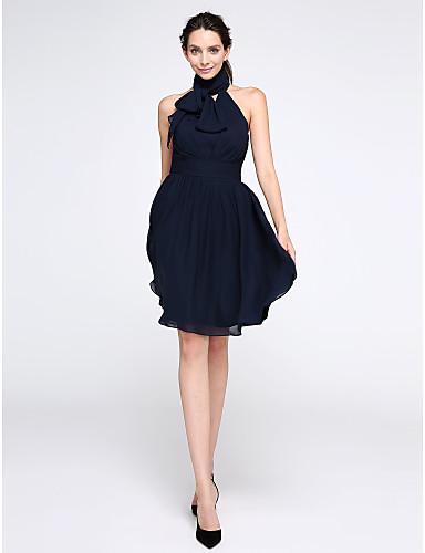 a4d1f8c4e5bd Γραμμή Α Ζιβάγκο Μέχρι το γόνατο Σιφόν Μικρό Μαύρο Φόρεμα   Κλειδαρότρυπα  Κοκτέιλ Πάρτι   Χοροεσπερίδα Φόρεμα με Πιασίματα με TS Couture® 5225220  2019 – ...
