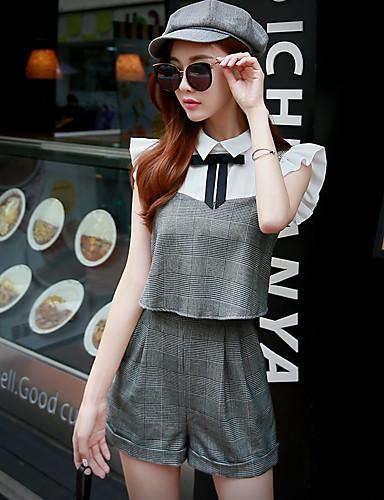 Mulheres Vintage / Moda de Rua Shorts Calças - Listrado
