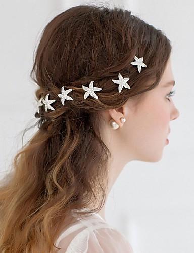 abordables Demoiselles d'Honneur-Alliage Fleurs / Coiffure / Outil de cheveux avec Fleur 1pc Mariage / Occasion spéciale / Décontracté Casque