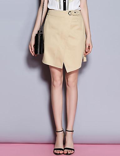 Sybel kvinners heldekkende hvit / svart skjørt, enkel / søt / street chic ovenfor kneet