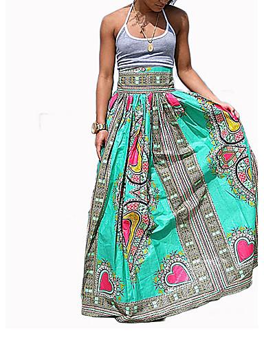Kvinders Simpel Maxi Nederdele Mikroelastisk Polyester