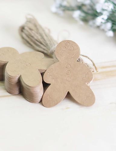 geschenk een sneeuwpop klassieke thema stickers etiketten& tags-100 stuk / set labels / tags niet-gepersonaliseerd bruin