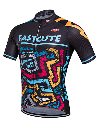Fastcute Men s Short Sleeve Cycling Jersey Bike Jersey Top Breathable Quick  Dry Sweat-wicking Sports Coolmax® Mountain Bike MTB Road Bike Cycling  Clothing ... 4c48d5df8
