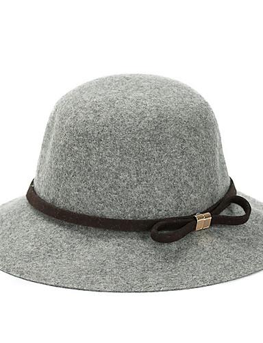 Dames Informeel Lente Herfst Winter Tweed Effen Fedora hoed