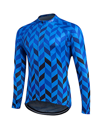 cheap Cycling Clothing-Fastcute Men's Women's Long Sleeve Cycling Jersey - Red Blue Plus Size Bike Sweatshirt Jersey Top Thermal / Warm Breathable Quick Dry Sports Winter Polyester Coolmax® 100% Polyester Mountain Bike MTB