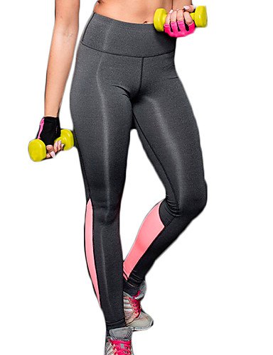 7036dd12583 Women s Yoga Pants Blue Pink Sports Fashion Spandex High Rise Tights Zumba  Running Fitness Activewear Breathable Quick Dry Compression Comfortable  Power ...