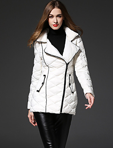 Dame I-byen-tøj Simple Dynejakke - Ensfarvet / Vinter