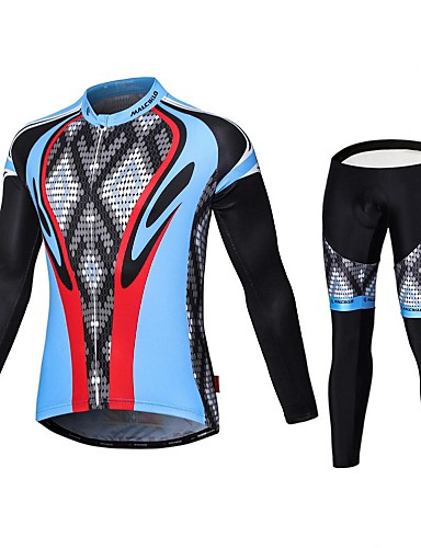 cheap Cycling Clothing-Malciklo Men's Long Sleeve Cycling Jersey with Tights Bike Tights Breathable 3D Pad Quick Dry Sports Coolmax® Elastane Lycra Snake Mountain Bike MTB Road Bike Cycling Clothing Apparel