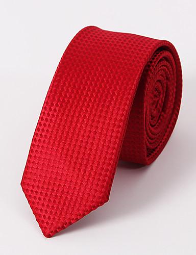 Herre Fest Kontor Grunnleggende Slips Ensfarget Polyester