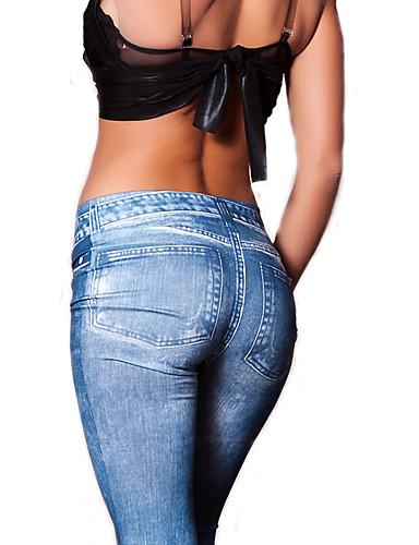Damen Grundlegend Legging Solide Mittlere Taillenlinie