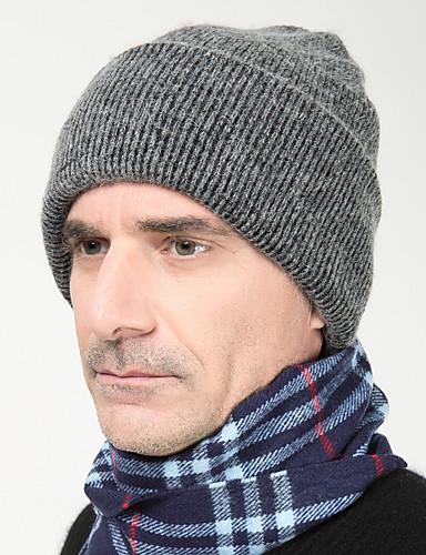 Herre Kontor / Aktiv Beanie Hatt Ensfarget