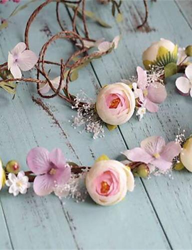 abordables Demoiselles d'Honneur-Vannerie / Tissu Coiffure / Couronnes avec Fleur 1pc Mariage / Occasion spéciale / De plein air Casque