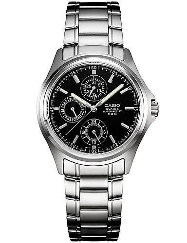 Heren Dress horloge Modieus horloge Kwarts / Roestvrij staal Band Vrijetijdsschoenen Zwart
