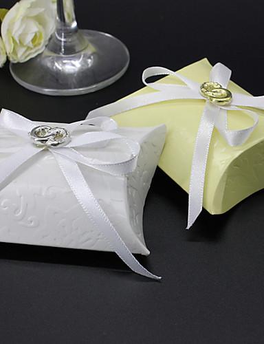 好意の箱 - 12結婚式の好意と枕カード紙の賛成のホルダー