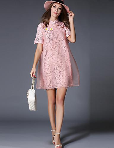 d6a546c5e9 Luźna Sukienka Damskie Codzienne Rozmiar plus Vintage Wzornictwo chińskie  Jendolity kolor