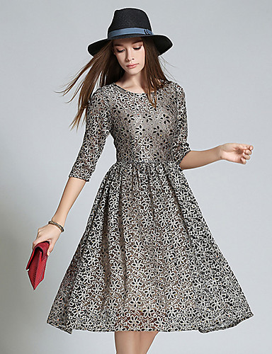 Maxlindy Women's Going out / Party/Cocktail / Holiday Vintage / Street chic / Swing Dress