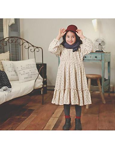 Casual/Dagelijks Heelal Katoen Herfst Lange mouw voor meisjes Jurk