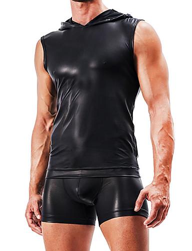 Herre Sexy Underskjorte Underbukse Ensfarget Mellomhøyt liv