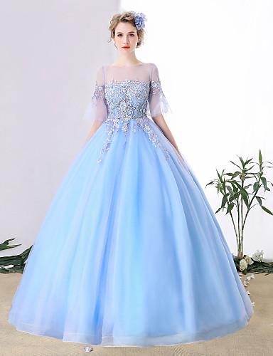 3fa08a87a949 Βραδινή τουαλέτα   Πριγκίπισσα Illusion Seckline Μακριά ουρά Τούλι Φόρεμα  με Κρυστάλλινη λεπτομέρεια   Δαντέλα με