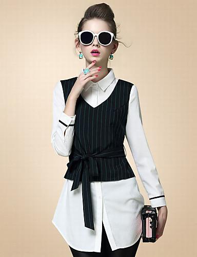 Krave Dame - Ensfarvet Simple Skjorte
