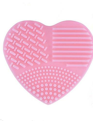povoljno Kistovi za šminku-1 kom Torbe za četkice i čišćenje Silikon Heart Shape
