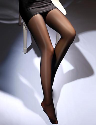 abordables Calcetines y Medias para Mujer-Mujer Sexy Panti Fino - Un Color