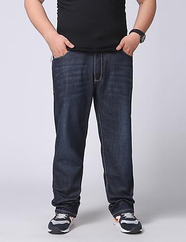 男性 シンプル ジーンズ パンツ,コットン / ポリエステル / スパンデックス 伸縮性なし