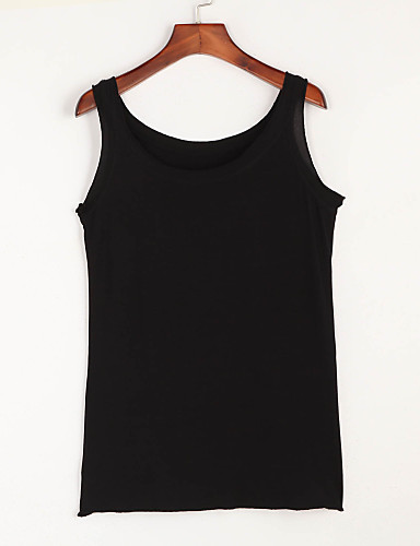 Damen Solide Tank Tops Polyester