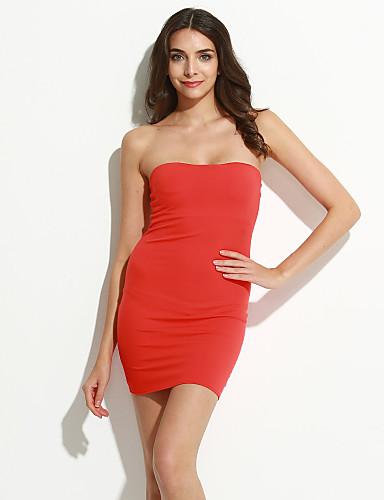 גב חשוף, אחיד - שמלה צינור בגדי ריקוד נשים