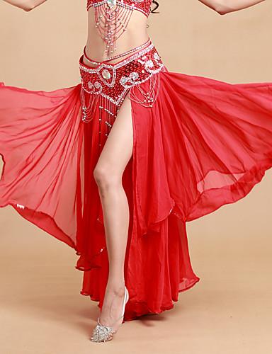 voordelige Shall We®-Buikdans Tutus & Rokken Dames Prestatie Polyester / Spandex Gelaagde ruches Natuurlijk Rok
