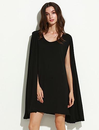 여성의 솔리드 V 넥 긴 소매 블라우스,심플 캐쥬얼/데일리 블랙 폴리에스테르 사계절 얇음