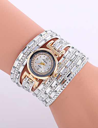 cheap Bracelet Watches-Women's Wrist Watch Leather Black / Silver / Red Analog Ladies Charm Sparkle Vintage Casual - Red Pink Light Blue
