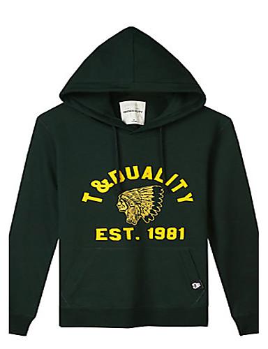 Trenduality® Muškarci Okrugli izrez Dugi rukav Hoodie & Sweatshirt Siva - 47052