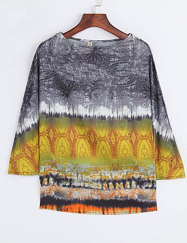 T-skjorte Dame Trykt mønster Ut på byen