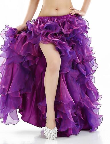 35fc074b7 رقص شرقي تنورات قصيرة وتنورة للمرأة أداء سباندكس فتحة أمامية بدون كم ارتفاع  منخفض الالتفاف