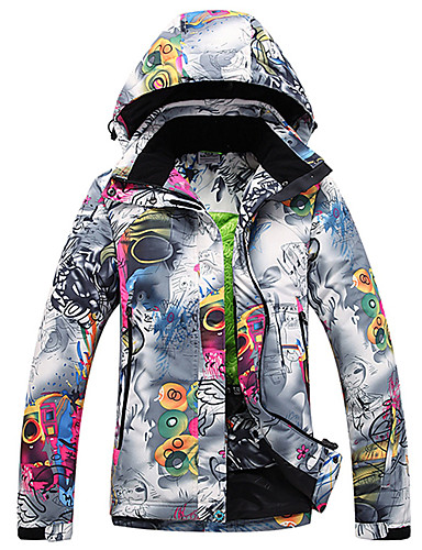 GQY® Women s Ski Jacket Waterproof Thermal   Warm Windproof Ski   Snowboard  Winter Sports Polyester Winter Jacket Ski Wear 367f7783e