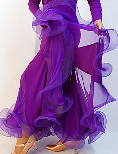 رخيصةأون ملابس الحفلات الراقصة-Ballroom Dance بنطلونات وفساتين نسائي أداء سباندكس ثنيات ارتفاع منخفض الالتفاف