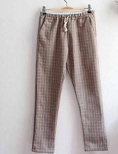 Naiset Söpö Mikroelastinen Chinos housut Housut,Löysä Keski vyötärö Yhtenäinen