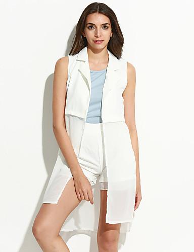Mulheres Moda de Rua Blusa Conjunto Sólido